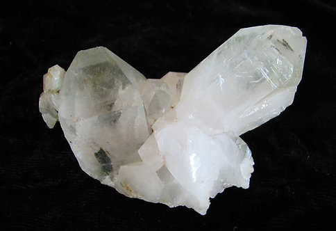 Quartz with Included Epidote Crystal-1