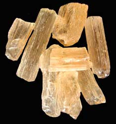 yellow scapolite crystals
