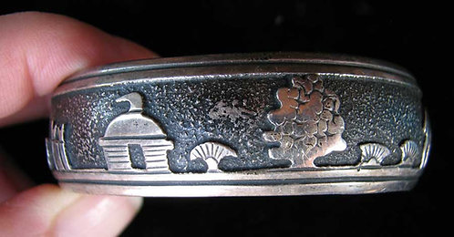 Vintage Sterling Tommy Singer Storyteller Cuff Bracelet