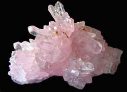 Pink Quartz Crystal Cluster