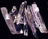 Kunzite crystals