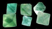 Fluorite Octahedrons Green