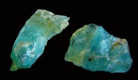 Blue Peruvian Opal rough