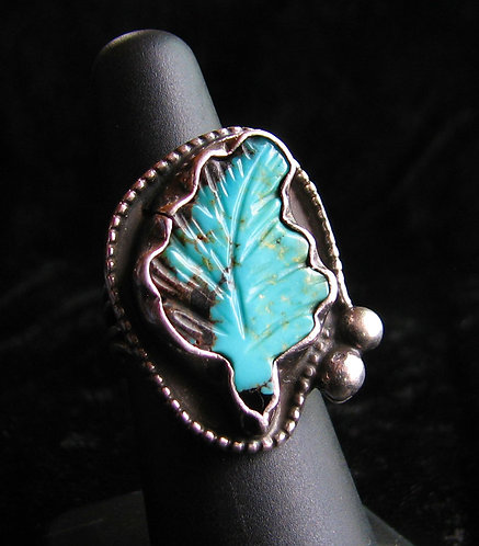 Old Navajo Pawn Turquoise Ring-2