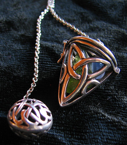 Celtic Sterling Silver Pendulum with Surprise!