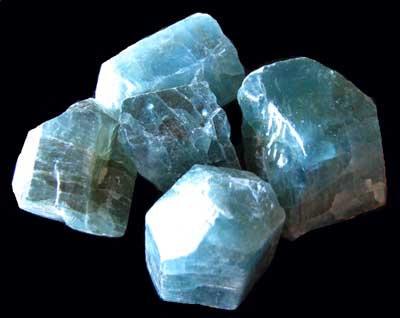 Fluorapatite Crystals blue