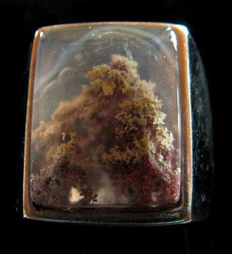 Men's Moss Agate Ring-8