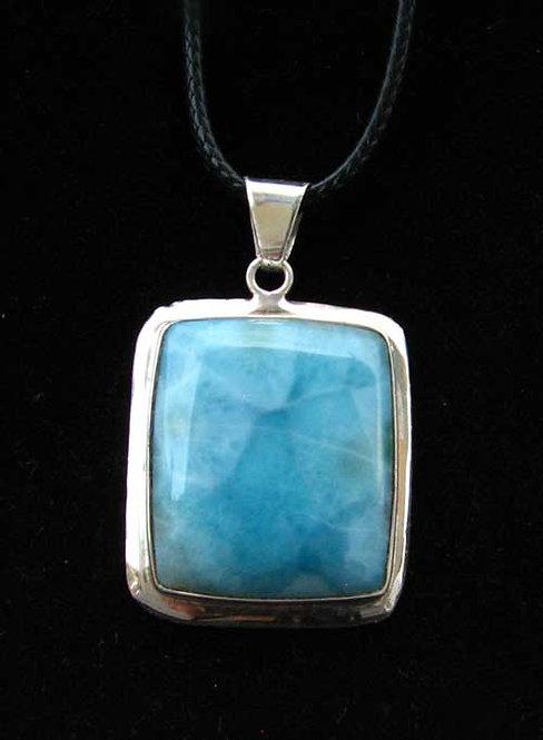 Blue Pectolite Gemstone Pendant