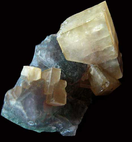 Fluorite with Barite-Rock Candy Mine, BC