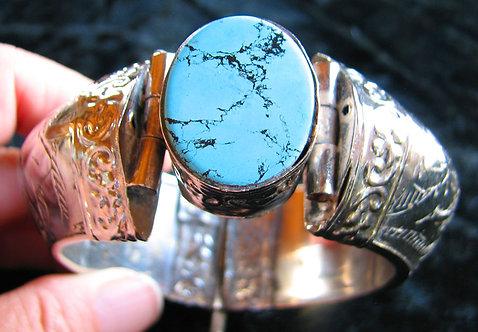 Antique Tibetan Turquoise Bracelet