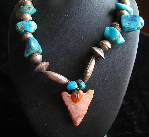 Navajo Turquoise & Arrowhead Necklace
