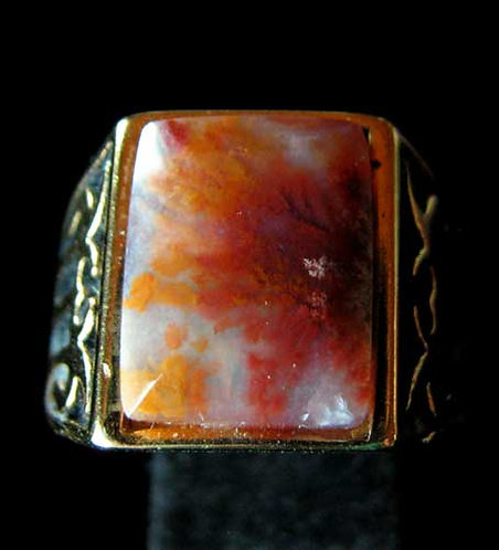 Moss Agate Ring-13