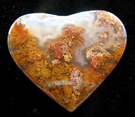 Heart Moss Agate Cabochon-7