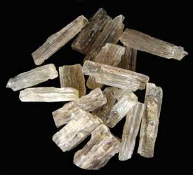 colorless scapolite crystals
