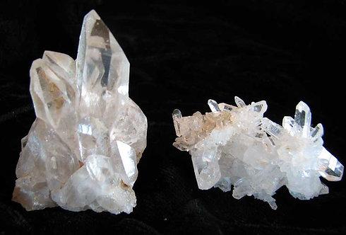 2 Quartz Crystal Clusters-A