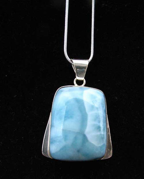 Larimar Silver Pendant with chain
