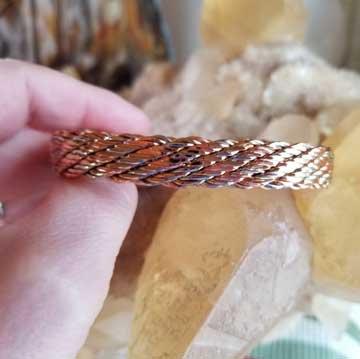 Life's Tapestry Copper Bracelet Size XL
