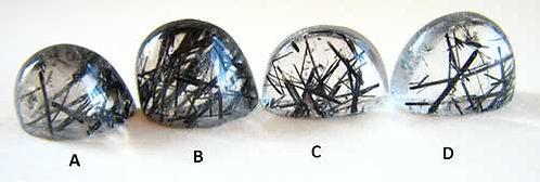 black tourmaline included quartz