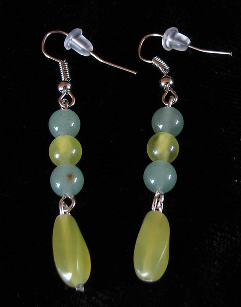 Trade Beads/Aventurine Earrings