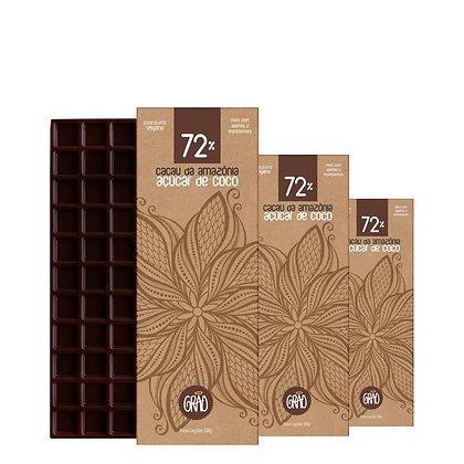 KIT 03x Chocolates 130g 72% Cacau da Amazônia e Açúcar de Coco