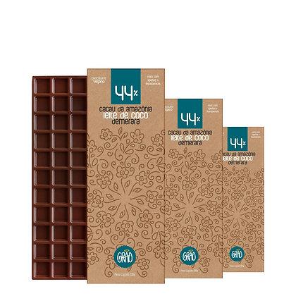 KIT 03x Chocolates 130g 44% Cacau da Amazônia, Leite de Coco e Açúcar Demerara