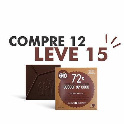 COMPRE 12, LEVE 15 Chocolates 72% Cacau da Amazônia e Açúcar de Coco