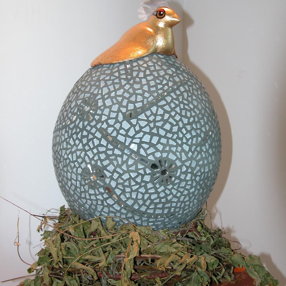 Gin Bird on Fertilized Egg