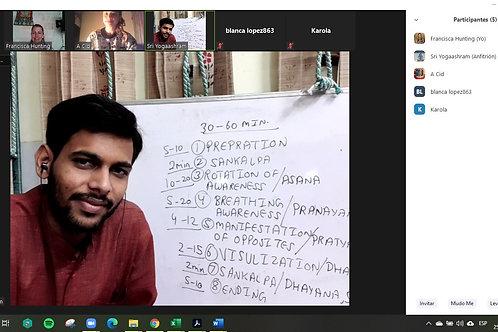 Curso Yoga Nidra en directo desde India