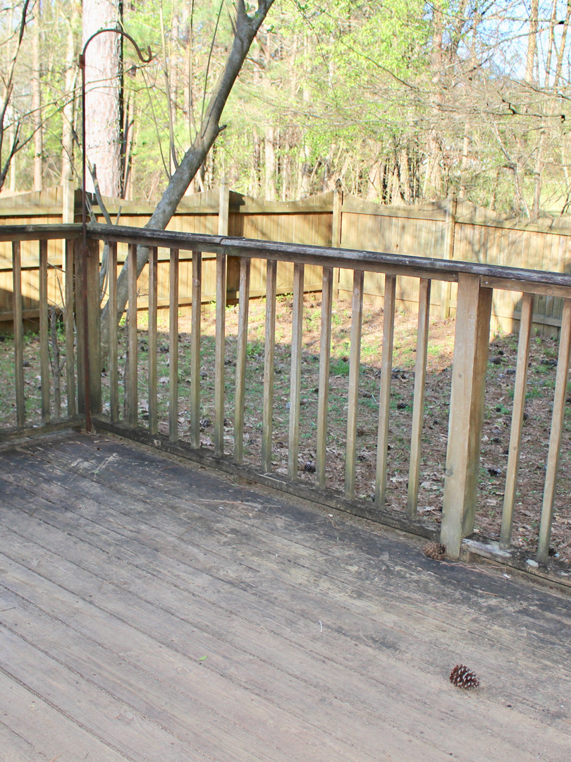 Deck on the back of the house