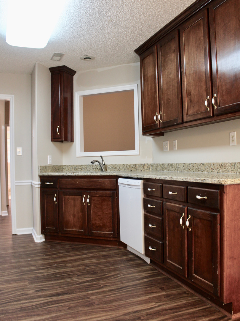 Kitchen with pass through to Great room