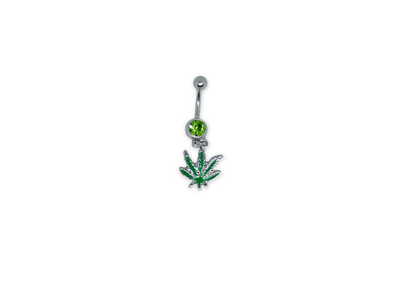 Marijuana Leaf Belly Ring