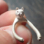 got to cast cat. 鋳造後の猫。