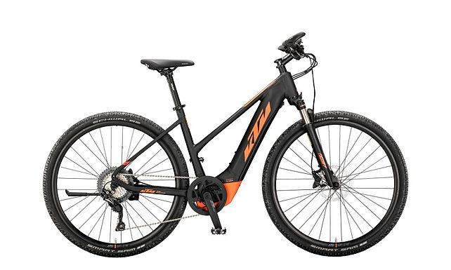 Elektrokolo KTM MACINA CROSS 620 625Wh black matt (orange), 2020