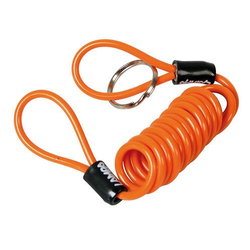 Spirálový bezpečnostní kabel na motorku proti krádeži