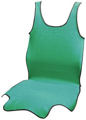 Potah sedadla TRIKO SOFT přední 1ks zelený - COMPASS