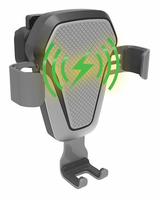 Držák telefonu LUKE-V bezdrátové nabíjení 10W silver