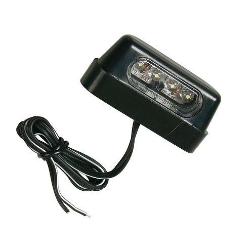 4 LED osvětlení poznávací značky na motorku/skútr - bílé - homologované
