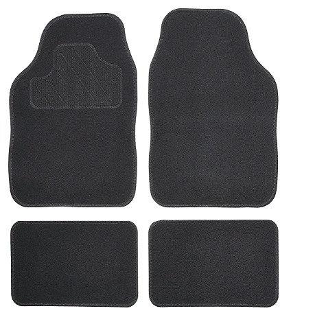 Koberce textilní ATOL 4ks černé - COMPASS
