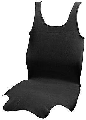 Potah sedadla TRIKO SOFT přední 1ks černý - COMPASS