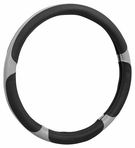 Potah volantu GRIP šedý průměru 37-39cm - COMPASS