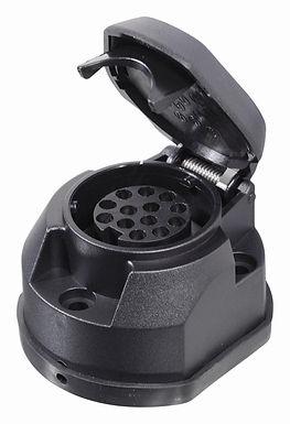 Zásuvka tažného zařízení 13 pólů s těsněním - COMPASS