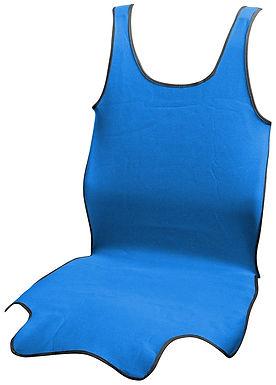 Potah sedadla TRIKO SOFT přední 1ks modrý - COMPASS