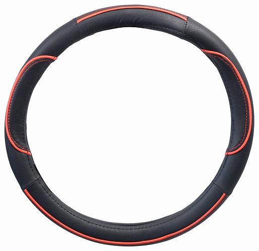 Potah volantu WAVE červený průměru 37-39cm - COMPASS