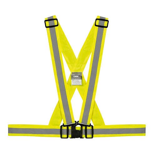X-Belt, bezpečnostní reflexní křížový pás - žlutý  - LAMPA