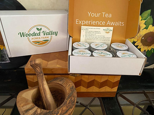 Tea Sampler Box with Diffuser Ball