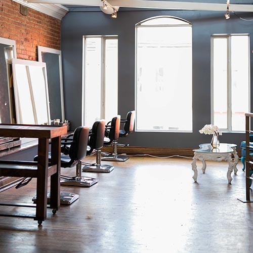 Commercial Renovation Tenant Permit hair salon bar architecture