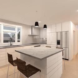 kitchen design 3D rendering architecture
