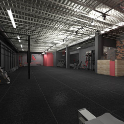 commercial interior fit-out gym crossfit architecture