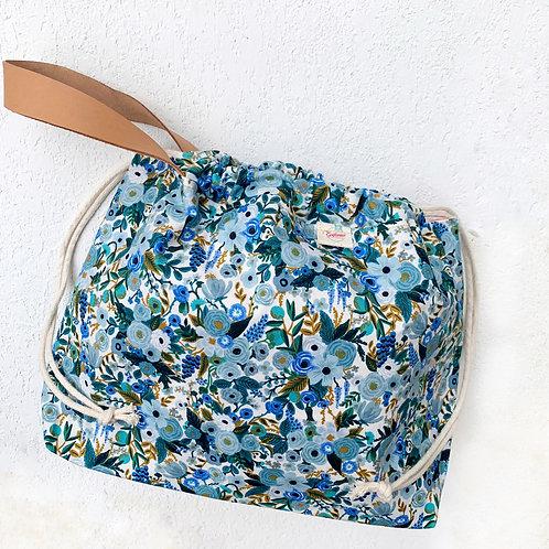 Bolso Asa de Cuero- Garden Blue