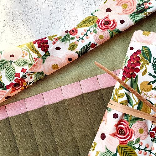 24 Crochet Botanica Rose  Lino - olivo/rosa/musgo
